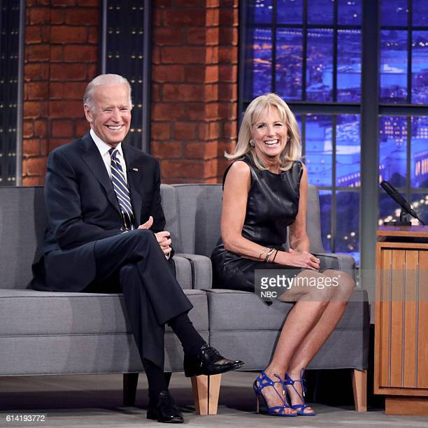 Vice President Joe Biden and Second Lady Dr Jill Biden during an interview on October 12 2016
