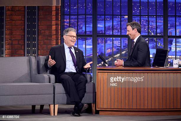 Senator Al Franken during an interview with host Seth Meyers on October 13 2016
