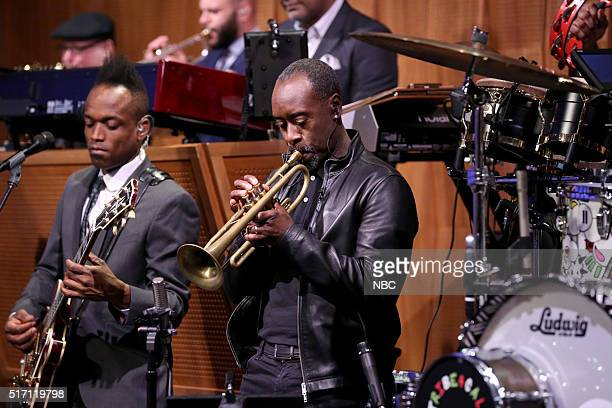 Actor Don Cheadle performs with The Roots on March 23 2016