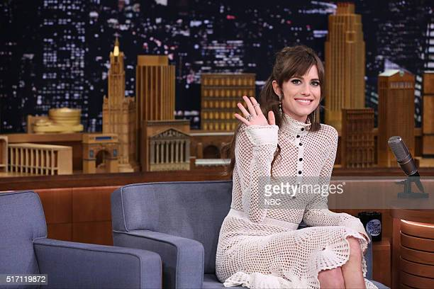 Episode 0439 -- Pictured: Actress Allison Williams on March 23, 2016 --