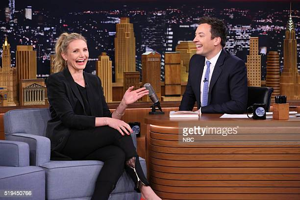 Actress Cameron Diaz during an interview with host Jimmy Fallon on April 6 2016