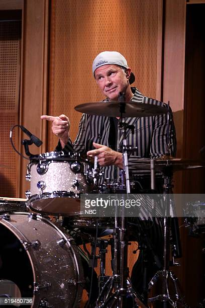 Drummer Chad Smith performs with The Roots on April 6 2016