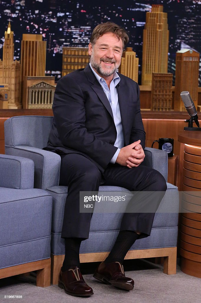 "NBC's ""The Tonight Show Starring Jimmy Fallon"" with guests Russell Crowe, Jonathan Groff, The Lumineers, The Sugarhill Gang"