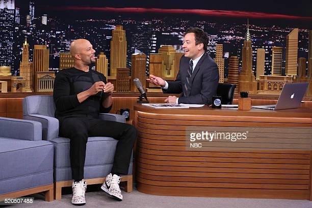 Actor Common during an interview with host Jimmy Fallon on April 11 2016