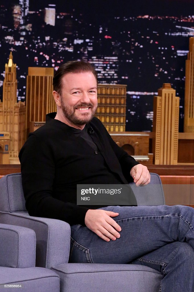 Actor Ricky Gervais on April 25, 2016 --