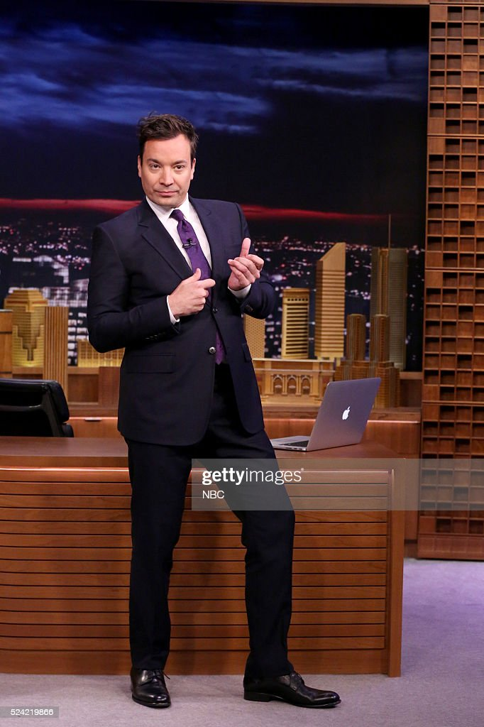 Host Jimmy Fallon during the monologue on April 25, 2016 --