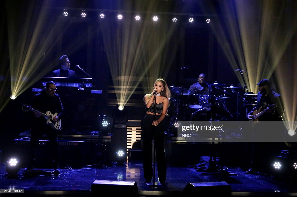 Musical guest Ariana Grande performs on April 25, 2016 --