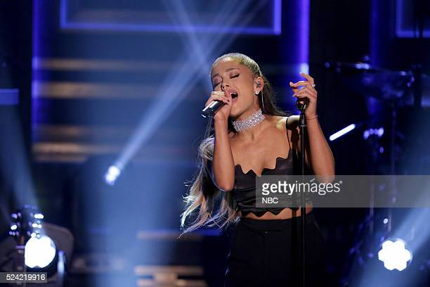 Musical guest Ariana Grande performs on April 25 2016