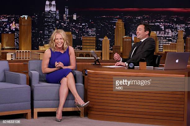 Episode 0458 -- Pictured: Comedian Chelsea Handler during an interview with host Jimmy Fallon on April 26, 2016 --