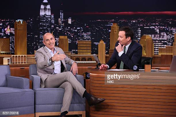 Journalist Matt Lauer during an interview with host Jimmy Fallon on April 27 2016