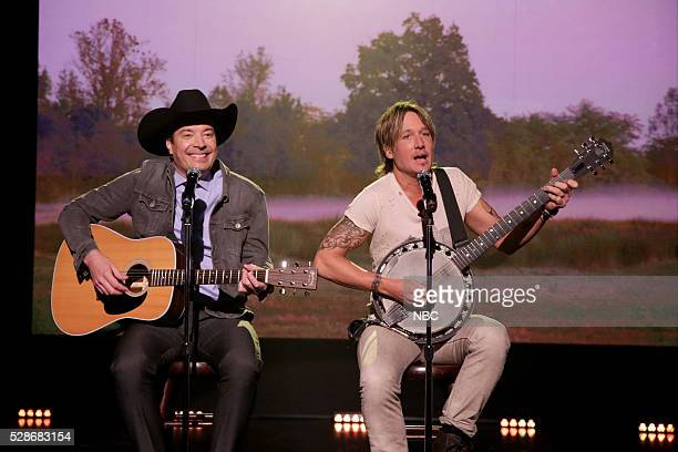 Host Jimmy Fallon and musician Keith Urban during the FML Country Singers bit on May 6 2016