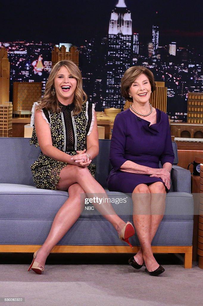 "NBC's ""The Tonight Show Starring Jimmy Fallon"" with guests David Spade, Mrs. Laura Bush, Jenna Bush Hager, Tegan and Sara"