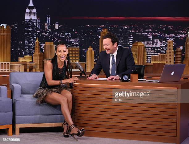 Actress Jada Pinkett Smith during an interview with host Jimmy Fallon on May 11 2016