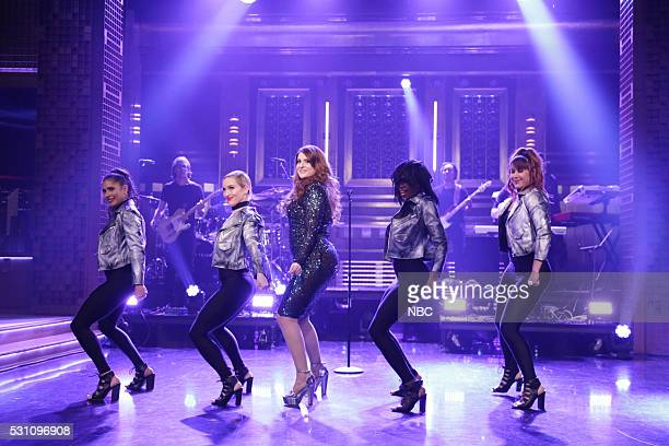 Musical guest Meghan Trainor performs on May 12 2016