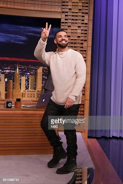Rapper Drake arrives on May 12 2016