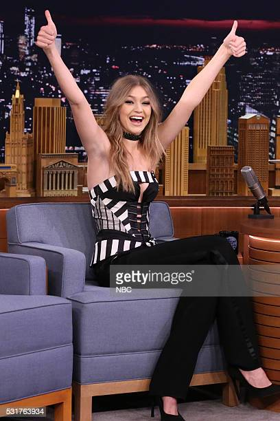 Model Gigi Hadid during an interview on May 16 2016