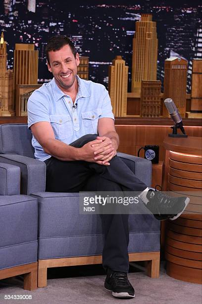 Actor Adam Sandler during an interview with host Jimmy Fallon on May 25 2016