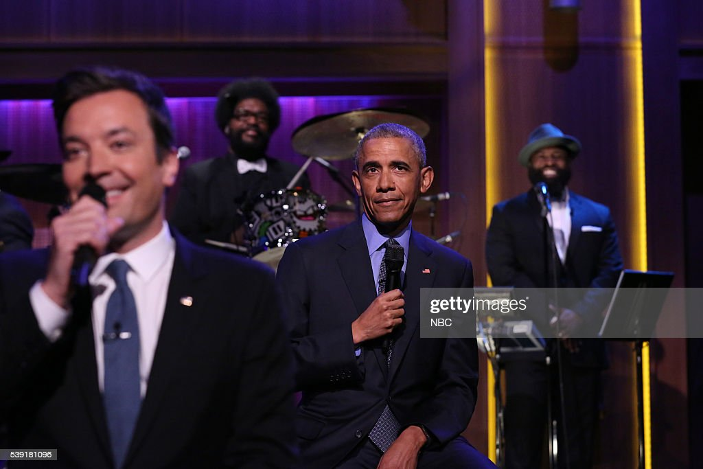 "NBC's ""The Tonight Show Starring Jimmy Fallon"" with guest President Barack Obama, Madonna"