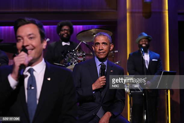 Host Jimmy Fallon and President Barack Obama Slow Jam The News on June 9 2016