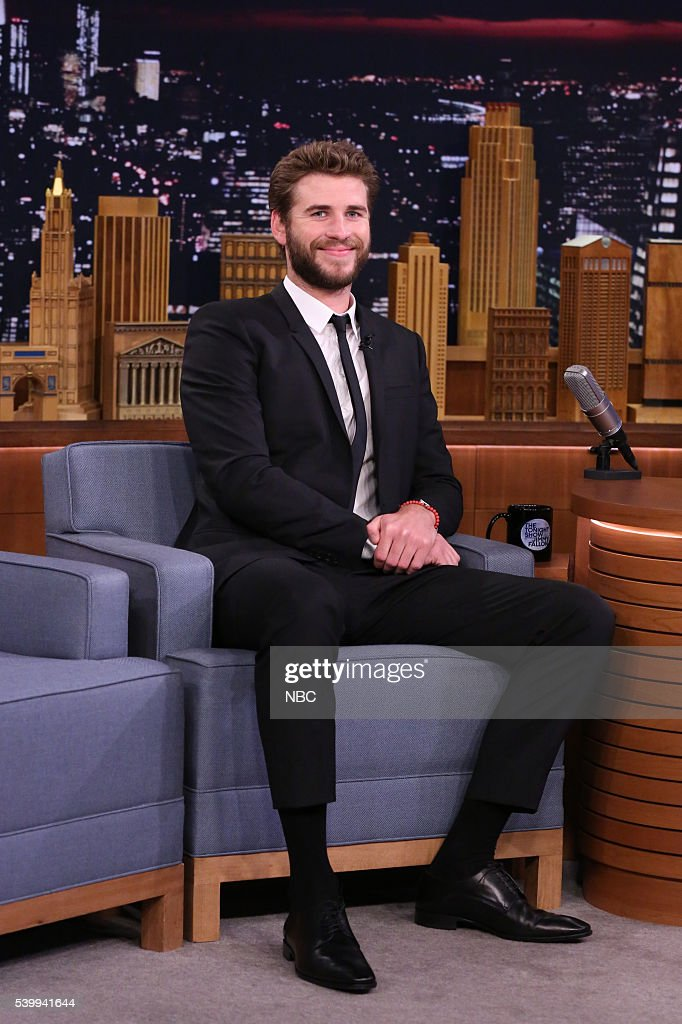 """NBC's """"The Tonight Show Starring Jimmy Fallon"""" with guests Liam Hemsworth, Nick Jonas"""