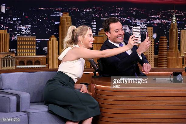 Actress Ashley Benson during an interview with host Jimmy Fallon on June 23 2016