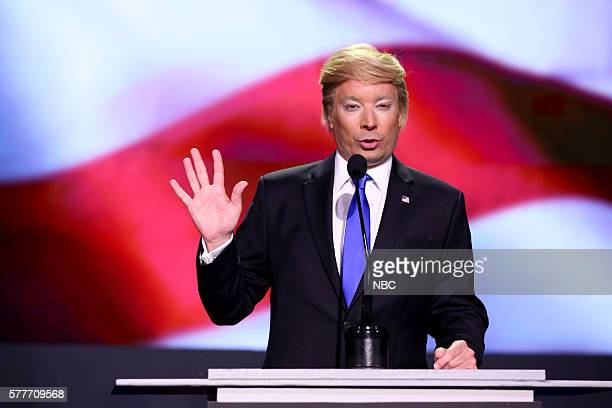 Host Jimmy Fallon as Donald Trump on July 19 2016