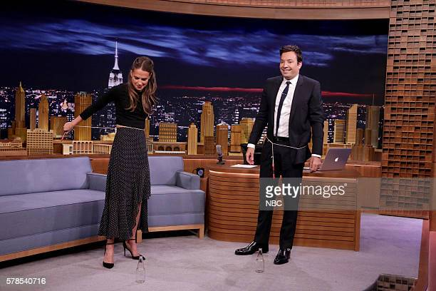 Actress Alicia Vikander during an interview with host Jimmy Fallon on July 21 2016