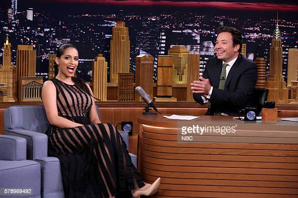 Comedian Lilly Singh during an interview with host Jimmy Fallon on July 22 2016