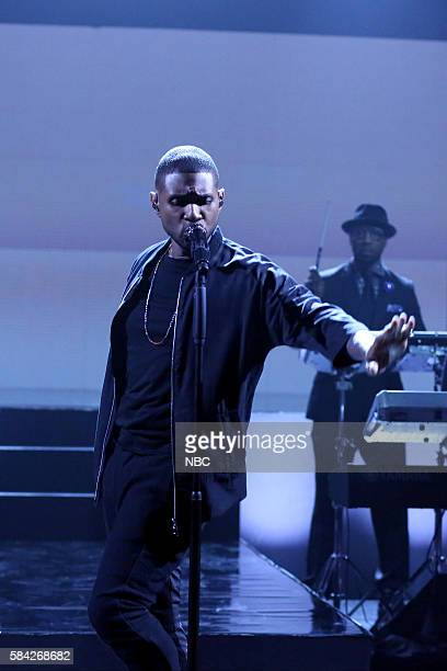 Musical guest Usher performs with The Roots on July 28 2016