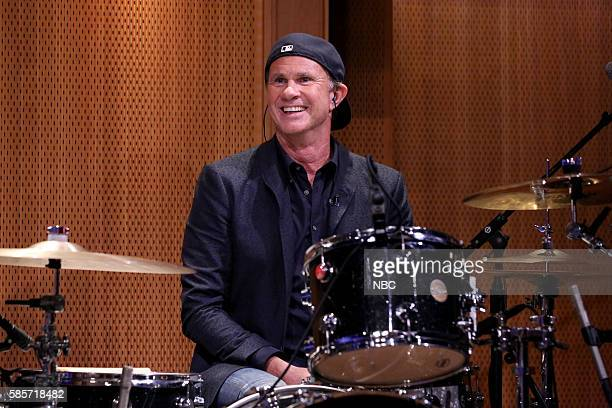 Drummer Chad Smith performs with The Roots on August 3 2016