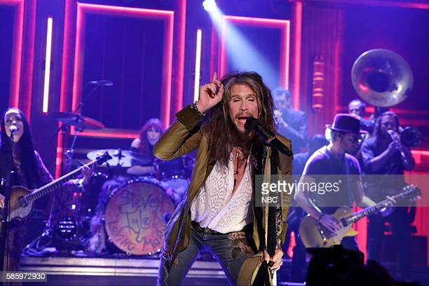 Musical guest Steven Tyler performs on August 4 2016