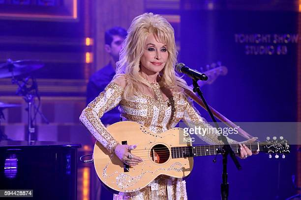 Episode 0518 -- Pictured: Musical guest Dolly Parton performs on August 23, 2016 --