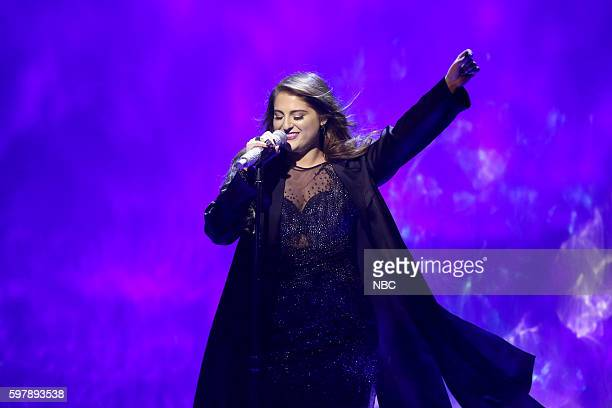 Musical guest Meghan Trainor performs on August 29 2016