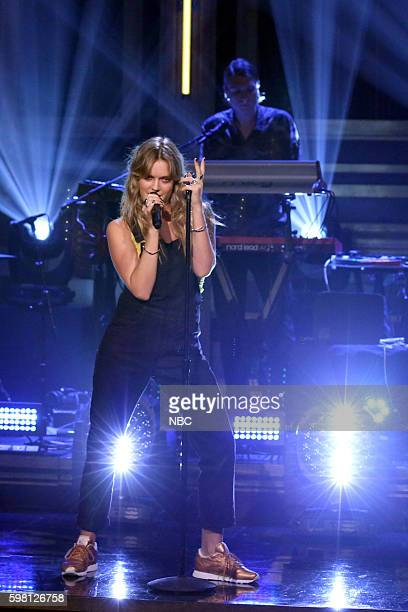 Musical guest Tove Lo performs on August 31 2016