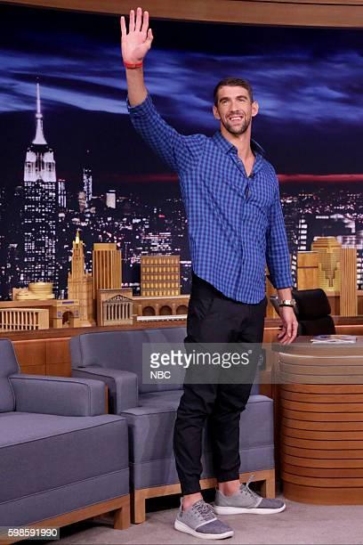 Swimmer Michael Phelps arrives on September 1 2016