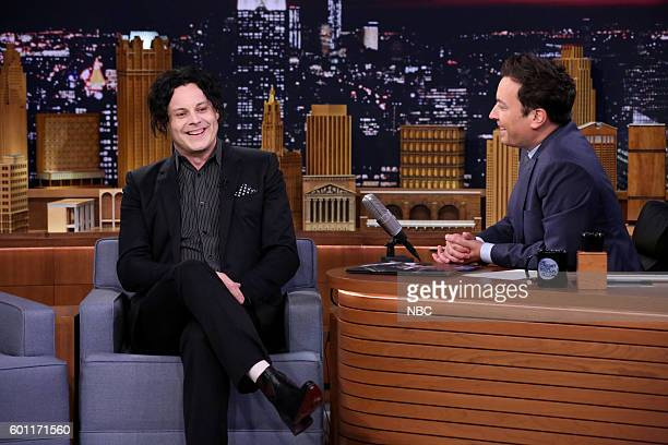 Musician Jack White during an interview with host Jimmy Fallon on September 9 2016