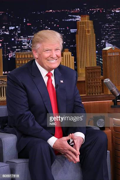Republican Presidential Candidate Donald Trump during an interview on September 15 2016
