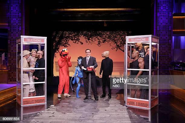 Insect expert Billy Corritore musician Miley Cyrus beard champion Garey Faulkner Times Square Elmo a Na'vi woman announcer Steve Higgins ET...