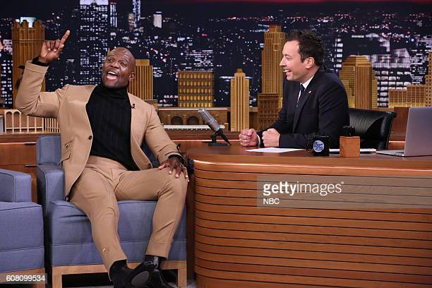 Actor Terry Crews during an interview with host Jimmy Fallon on September 19 2016