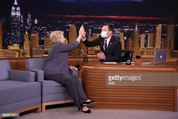 Democratic Presidential Candidate Hillary Clinton during an interview with host Jimmy Fallon on September 19 2016