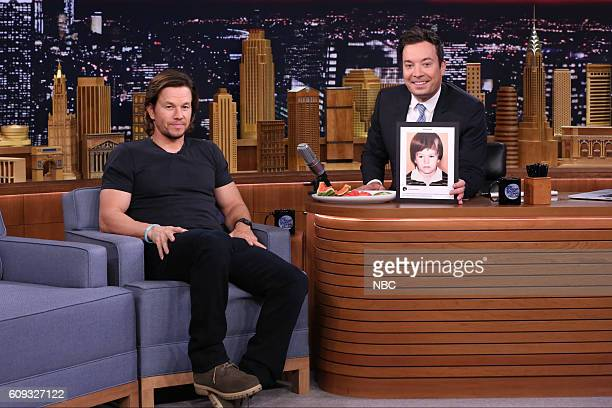 Actor Mark Wahlberg during an interview with host Jimmy Fallon on September 20 2016