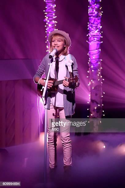 Musical guest Grace VanderWaal performs on September 23 2016
