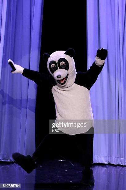 Hashtag the Panda dances during a 'Suggestion Box' sketch on September 27 2016