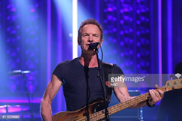 Musical guest Sting performs on September 28 2016
