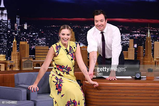 Actress Margot Robbie during an interview with host Jimmy Fallon on September 29 2016