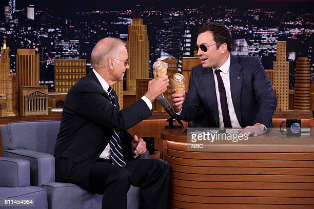 Episode 0544 -- Pictured: Vice President of the United States Joe Biden during an interview with host Jimmy Fallon on September 29, 2016 --