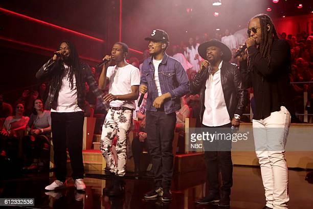 Musical guest DRAM Ruary Chance the Rapper Anthony Hamilton and Ty Dolla Sign perform on October 3 2016