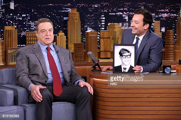 Actor John Goodman during an interview with host Jimmy Fallon on October 4 2016