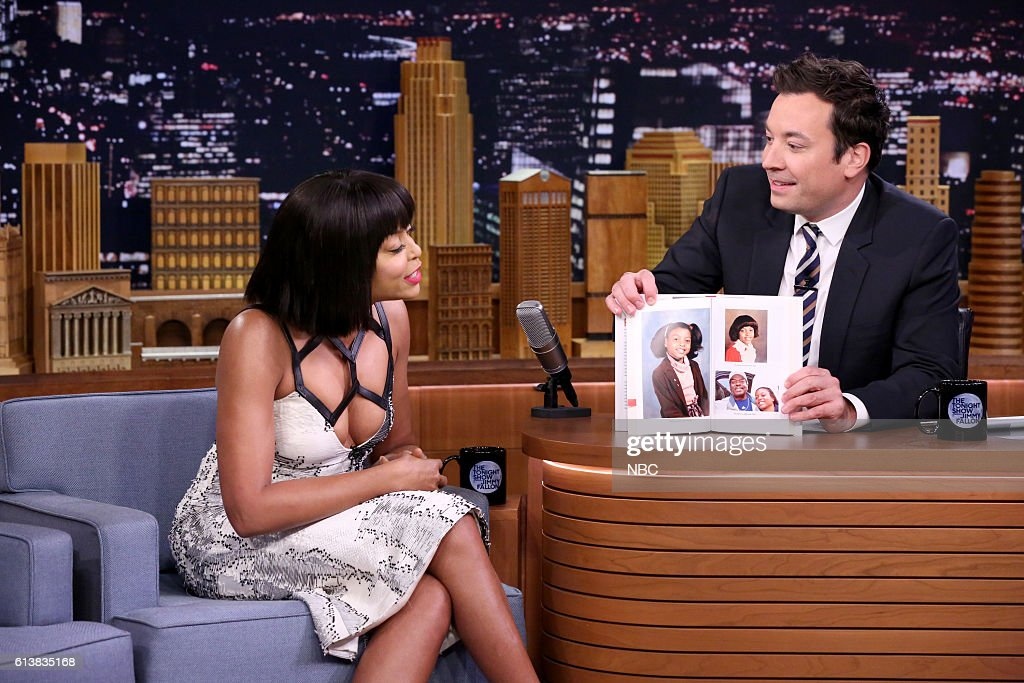 Actress Taraji P. Henson during an interview with host Jimmy Fallon on October 10, 2016 --