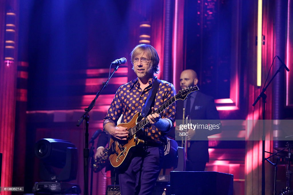 Trey Anastasio of musical guest Phish performs on October 10, 2016 --